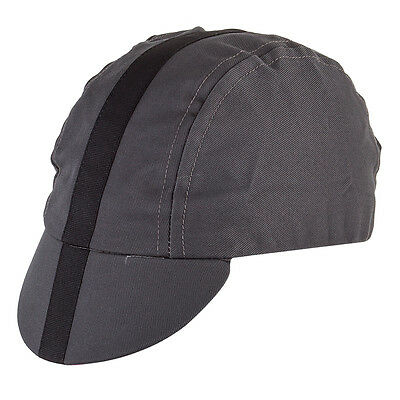 Pace Sportswear Classic Cycling Cap Charcoal with Black tape