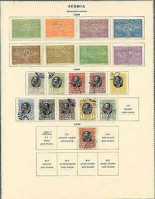 Serbia  Selection Of Used And Mint Hinged Stamps As Shown