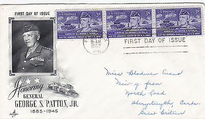 United States 1953 Honouring General Patton FDC Used VGC D