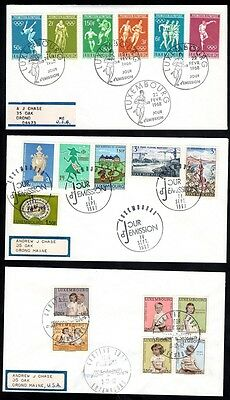 LUXEMBOURG 1960's SEVEN FDC's OLYMPICS, CHILDREN