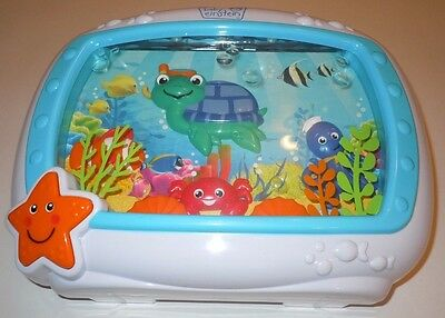 Baby Einstein Sea Dreams Soother Crib Music Box Turtle Fish Lights Sound Toddler