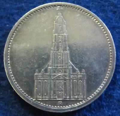1935 Nazi Germany 5 Mark Coins 90% Silver XF. RARE!