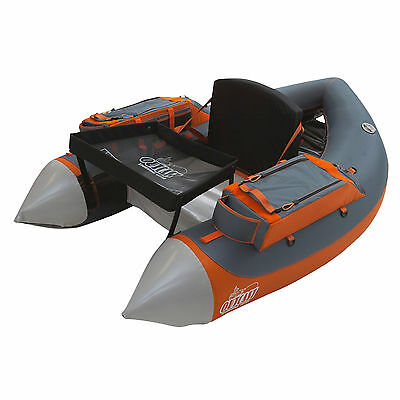 Outcast Fat Cat LCS - Gray/Orange Inflatable Fly Fishing Float Tube U-boat