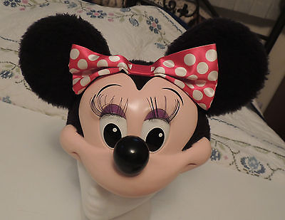 Vintage Disney MINNIE MOUSE Head Ears SNAPBACK HAT Cap World Land Costume