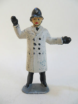 H R Products/reynolds Vintage Lead Traffic Policeman - White Coat. Very Rare.