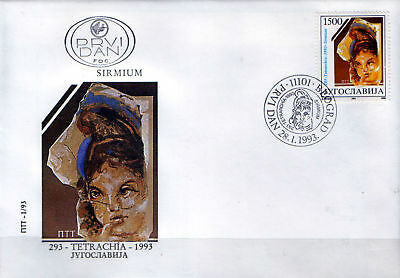 YUGOSLAVIA 1993 1700th Anniversary of Formation of the Tetrarchy FDC