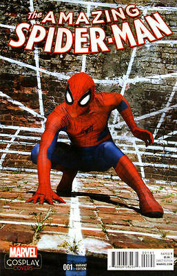 Amazing Spider-Man #1 (2015) Cosplay 1:15 Variant Near Mint First Print