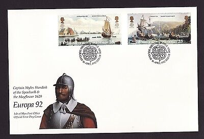 1992 Isle of Man, Europa, Mayflower, First Day Cover