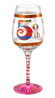 Here's To You 50th Glass (Kali Stileman) Birthday Wine Gift Party Novelty Fun