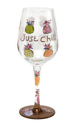 Here's To You Just Chill - Pineapples Glass (Papersalad) Wine Gift Party Novelty