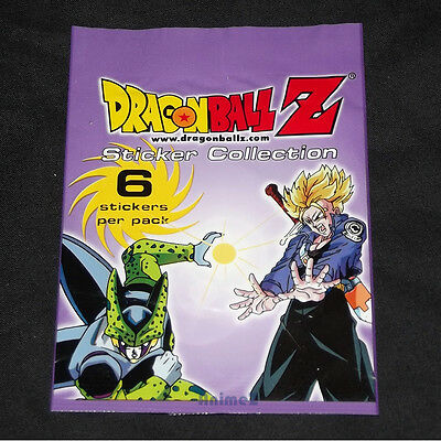DragonBall Z sticker collection - 10 packs - Licensed by Funimation 2001 DBZ