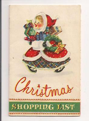 Christmas Shopping Liist Booklet ! 1st National Bank, Waseca, Minn., cp.1949 !