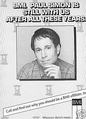 PAUL SIMON is still with us.... UNIQUE Promo Poster Ad