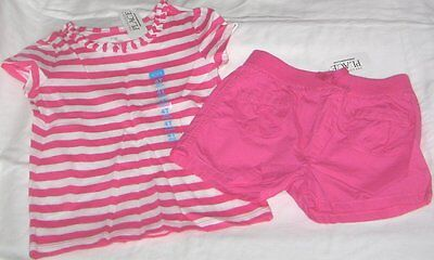 NWT Girls 4T CHILDRENS PLACE 2 Pc Outfit Shorts and Short Sleeve Top NEW