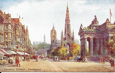 Early Valentines  Postcard  - Princes Street, Edinburgh