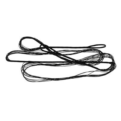 Black Nylon Replacement Traditional Recurve Bow String - Various Size