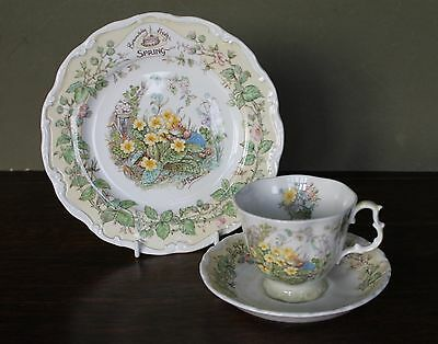 "Royal Doulton Brambly Hedge Spring Trio - Cup Saucer & 8"" Plate"