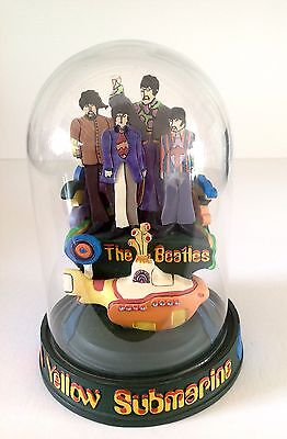 The Beatles Yellow Submarine Franklin Mint Limited Edition Bell Dome Jar