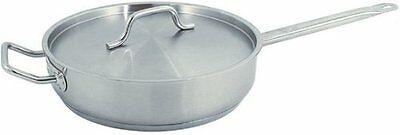 "Update International (SSAU-7) 14"" Induction Ready Stainless Steel Saute Pan w/C"