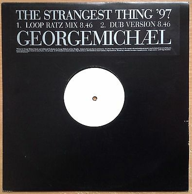 """George Michael  The Strangest Thing '97  1997 UK Promo 2 Track 12""""  Exc/N.Mint"""
