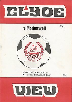 82/83 League Cup Clyde v Motherwell