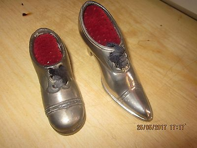 Antique Pair Of Pin Cushions In The Form Of A Shoe & Boot