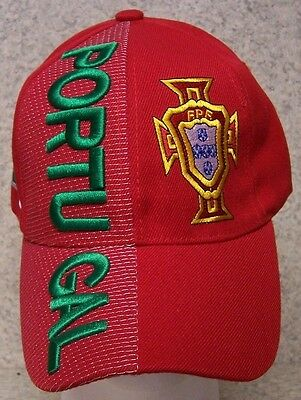 f4013fb7064 Embroidered Baseball Cap Soccer International Portugal Football Club NEW Red