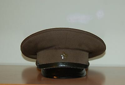 Soviet Red Army Armed Forces Peaked Star Cap Military Field Uniform USSR #2