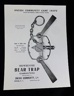 Early Advertising Newhouse Bear Trap Oneida Community Game Trap Picture