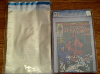 PACK OF 50 x RESEALABLE CGC/COMIC PROTECTION BAGS. POLYTHENE - SIZE J