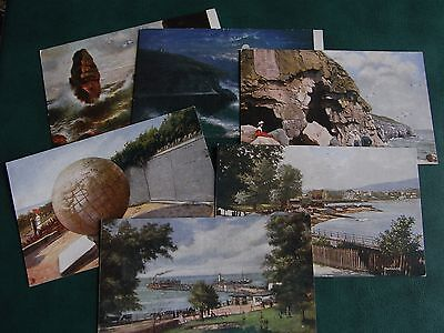 SET OF SIX TUCK POSTCARDS - SWANAGE - OILETTE No. 6203.