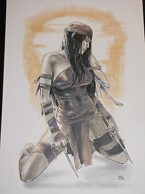 Clay Mann Elektra Cover Quality Original Art Commission - Beautiful