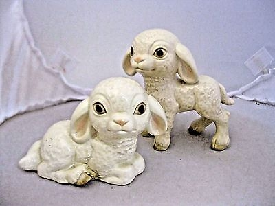 Vintage Goebel Lambs  32046 & 32048 1 Sitting 1 Standing Set of 2