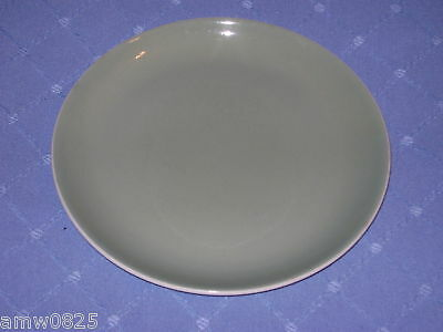 """Vintage Poole Pottery Cameo Sage Green 8"""" Salad Plate Stoneware Replacement Chin"""