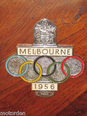 OLYMPIC GAMES 1956 CAR BADGE suit Holden FX FJ FE 1950's Austin Rootes FREE POST