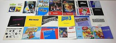 Nintendo NES Gameboy Color Instruction Manuals Super Mario Bros 2 3 +  FAST SHIP