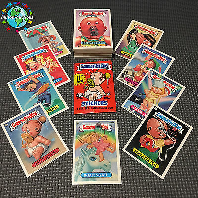 GARBAGE PAIL KIDS 11th SERIES 11 COMPLETE 88-CARD SET 1987 WITH ERRORS & WRAPPER