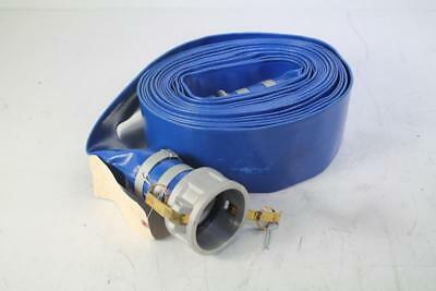 """Abbott Rubber PVC Discharge Hose Assembly, Blue, 3"""" Male X Female Cam And Groove"""