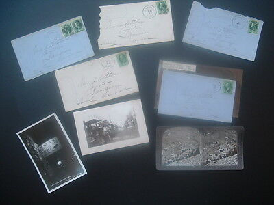 1870's (8) Virginia City,Nevada/Leadville,Colorado Silver Mining,cover,photo lot