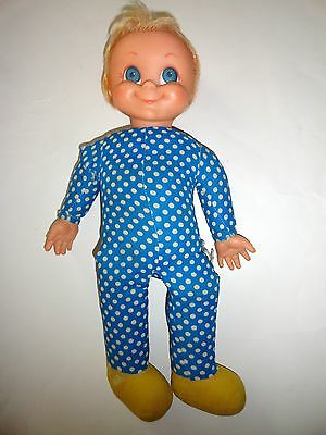ViNTaGe MRS BeaSLeY TaLKiNG DoLL BLUe WHiTe PoLKA DOT DoLL REPAIR ONLY