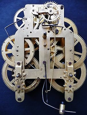 Seth Thomas Wall Clock Movement 8 Day Time & Strike Runs Well - Antique Part