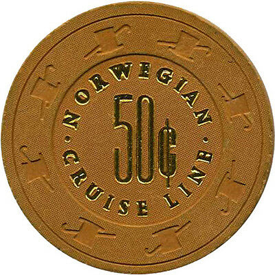 NORWEGIAN CRUISE LINE 50c Casino Chip Cruise Line