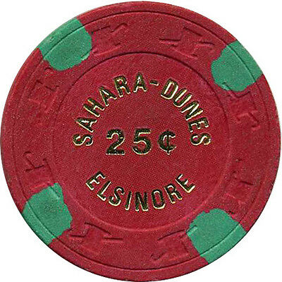 SAHARA DUNES 25c Casino Chip Elsinore California USA #1 SCV mold
