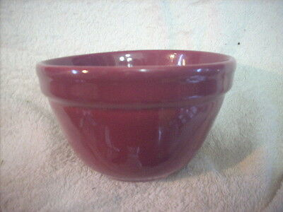 Small Fowler Ware Plum Coloured.mixing Bowl 13.4 Cm Diameter