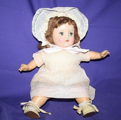 "Vintage Horsman Cloth & Plastic Doll 14"" Cryer (works) all original"