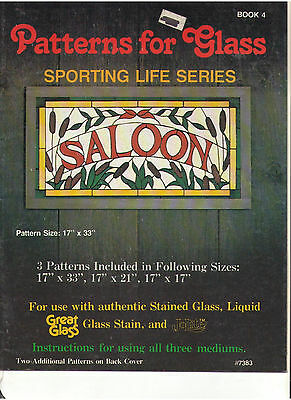 Stained Glass 3 Patterns Book For Sporting Life Salloon Hot Air Balloon Boat Oop