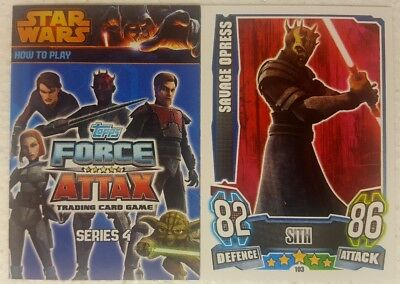 STAR WARS : FORCE ATTAX 4  Trading Card Base Set of 192 UK   CLONE WARS