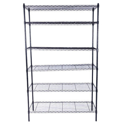 "79x48x18"" Unit Commercial 6 Tier Shelf Adjustable Steel Wire Metal Shelving Rack"