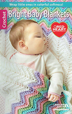 LEISURE ARTS ~ BRIGHT BABY BLANKETS TO CROCHET 8 x GORGEOUS DESIGNS *NEW*
