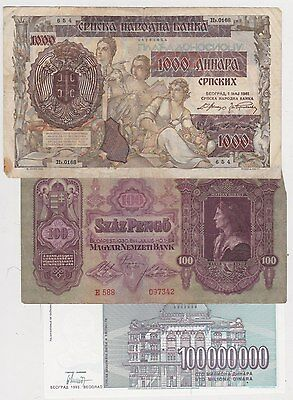 7 Banknotes From Eastern Europe In Used Fine To Mint Condition